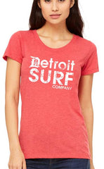 Ladies DSC distressed Logo Crew - Detroit Surf Co. - 6