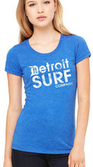 Ladies DSC distressed Logo Crew - Detroit Surf Co. - 7