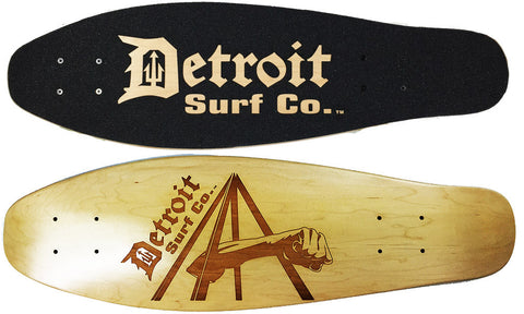 Joe Louis Fist Mini Cruiser Deck (Deck Only) - Detroit Surf Co.