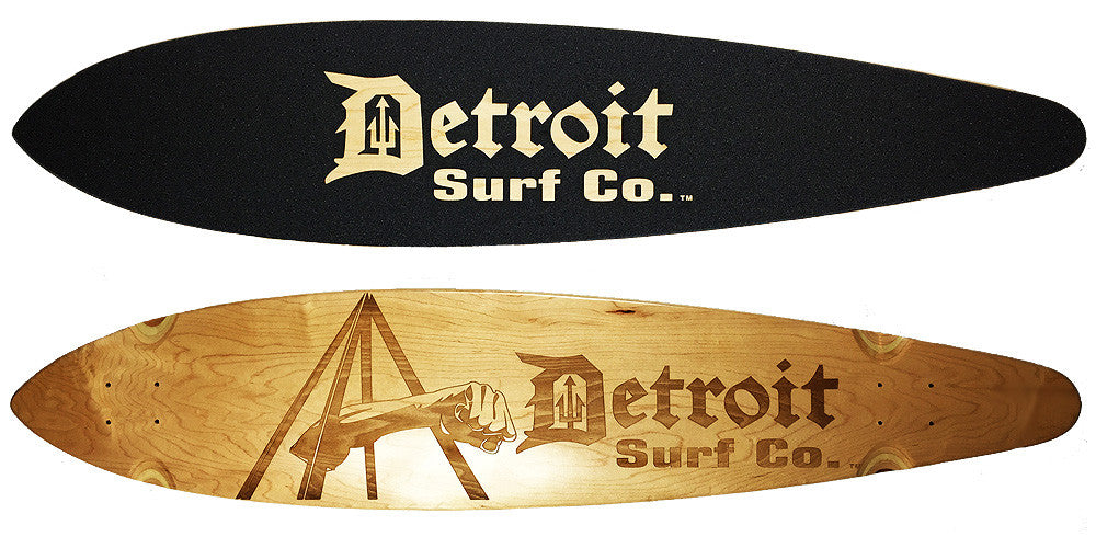 Joe Louis Fist Pintail Longboard Deck (Deck Only) - Detroit Surf Co. - 1