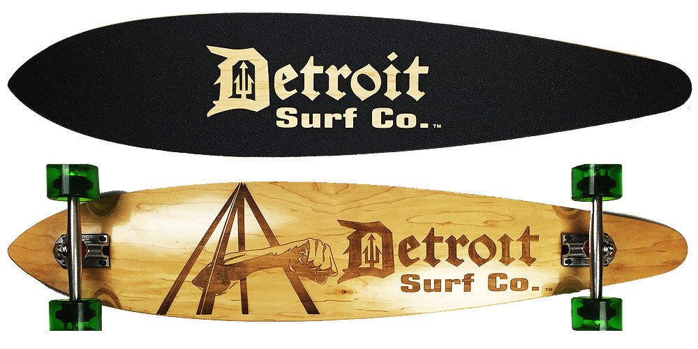 Joe Louis Fist Pintail Longboard - Detroit Surf Co. - 1