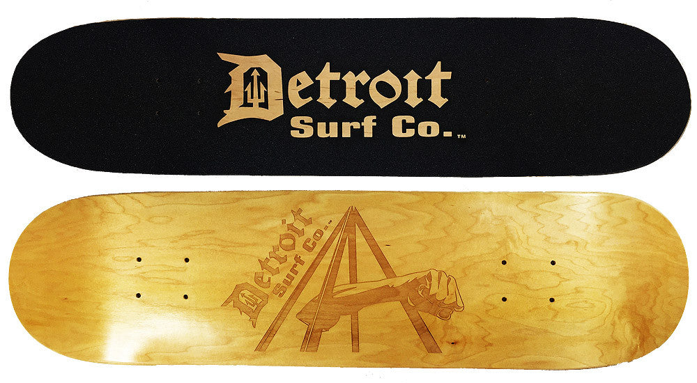 Joe Louis Fist Skateboard Deck (Deck Only) - Detroit Surf Co.
