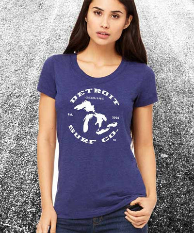 Ladies Great Lakes Tee - Detroit Surf Co. - 1