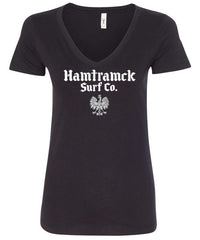 Hamtramck Surf Co. V-neck Ladies T