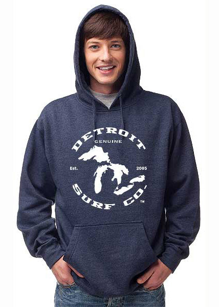 Detroit Surf Co. Great Lakes logo Premium Hooded Sweatshirt - Detroit Surf Co. - 1