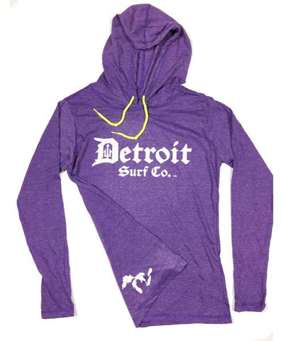 Detroit Surf Co. logo lightweight longsleeve hooded T-shirt