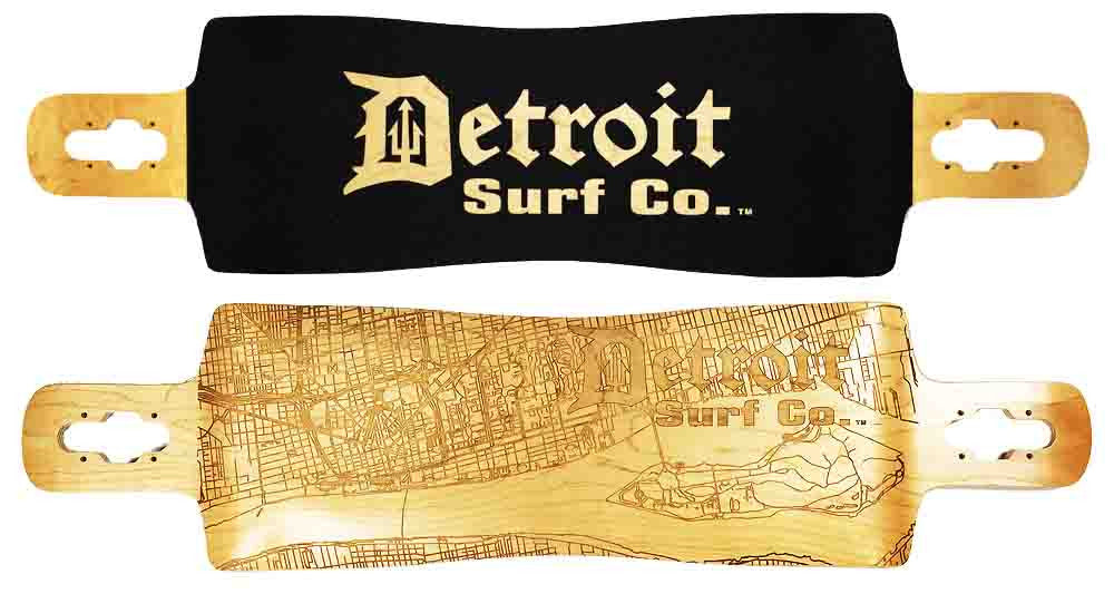 Detroit Street Map Longboard Deck (Deck Only)