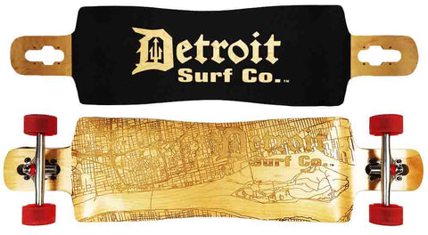 Detroit Street Map Drop Through Longboard