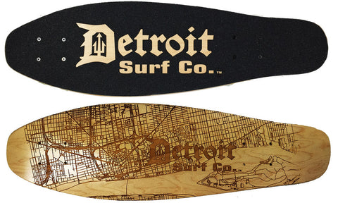 Detroit Street Map Mini Cruiser Deck (Deck Only) - Detroit Surf Co.