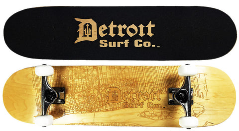 Detroit Street Map Skateboard - Detroit Surf Co. - 1