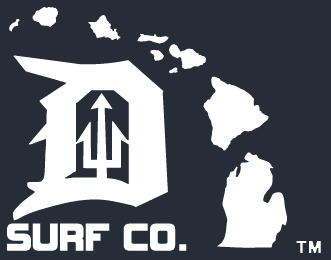 Michigan-Hawaii Die Cut Sticker - Detroit Surf Co.