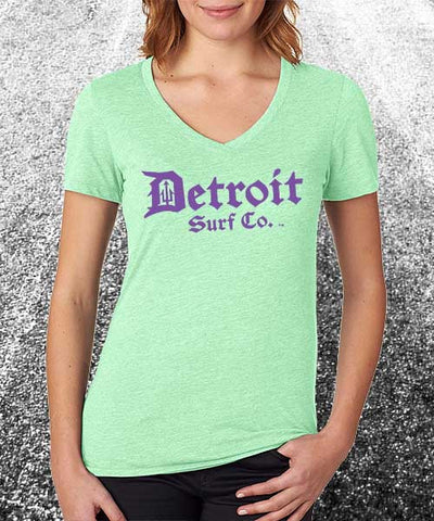 Ladies classic logo V - Detroit Surf Co. - 1
