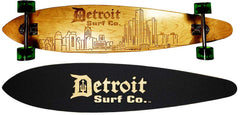 Detroit City Skyline Pintail Longboard