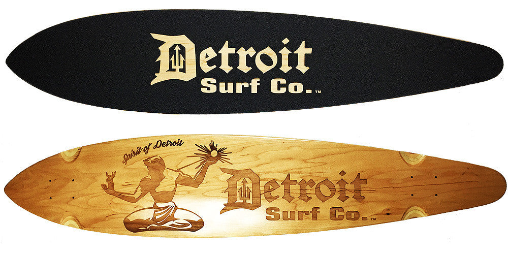 Spirit of Detroit Pintail Longboard Deck (Deck Only)