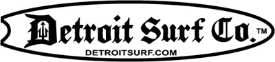 Surfboard DSC logo Sticker - Detroit Surf Co.