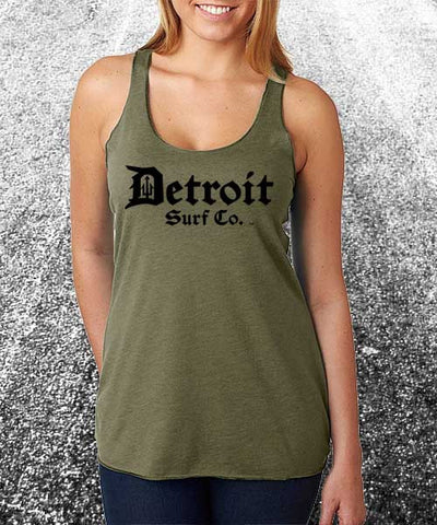 Ladies Classic Logo Tank - Detroit Surf Co. - 1