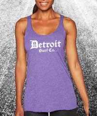 Ladies Classic Logo Tank - Detroit Surf Co. - 5