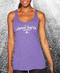Tri-blend Surfwear logo Tank - Detroit Surf Co. - 3