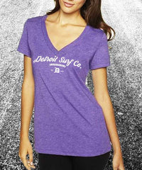 Ladies Tri-Blend V Neck Surf Wear Logo - Detroit Surf Co. - 2