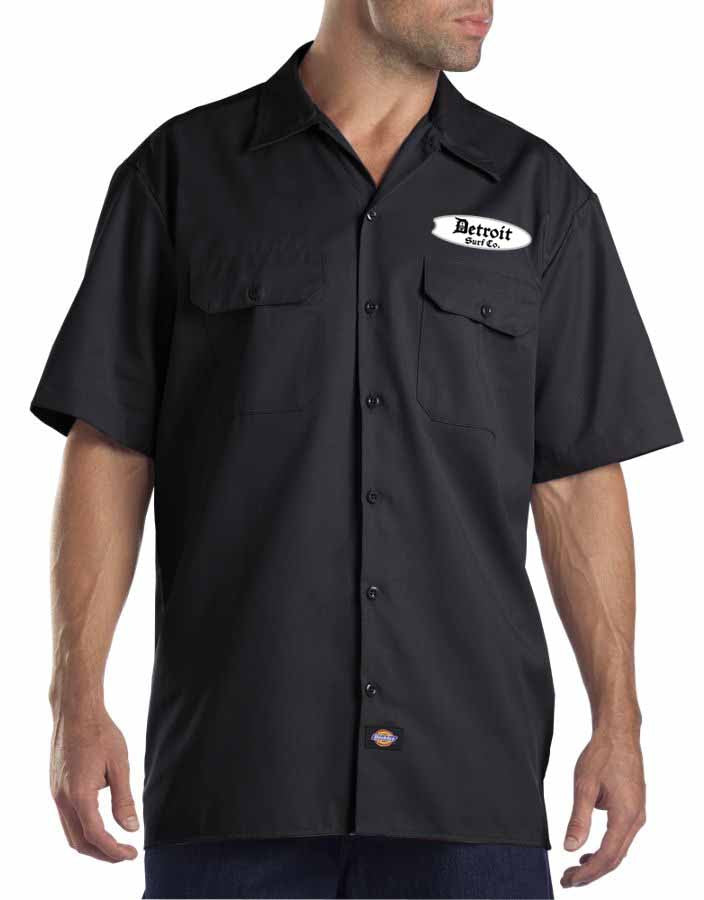 Embroidered dickies work shirt detroit surf co for Embroidered dickies work shirts