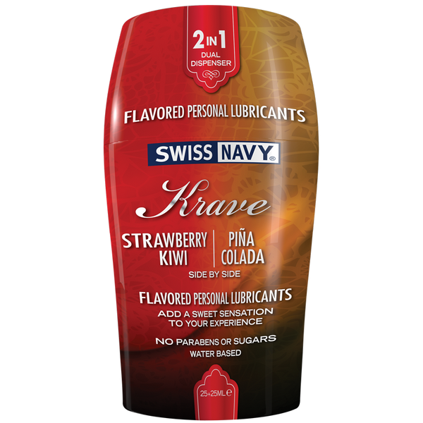 Swiss Navy KRAVE 2in1 Flavors Strawberry Kiwi & Pina Colada
