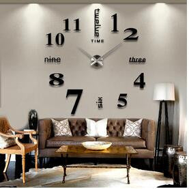 DIY Big Wall Clock - Home Decor