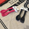 Cartoon Fork and Spoon Set