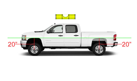 according to our example we needed to buy and install a two inch front lift level kit to level the front of the truck to the rear of the truck