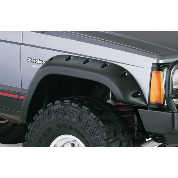 1984-2001 Jeep Cherokee XJ Cut-Out Style Fender Flare 4 Doors- Front/Rear  Kit