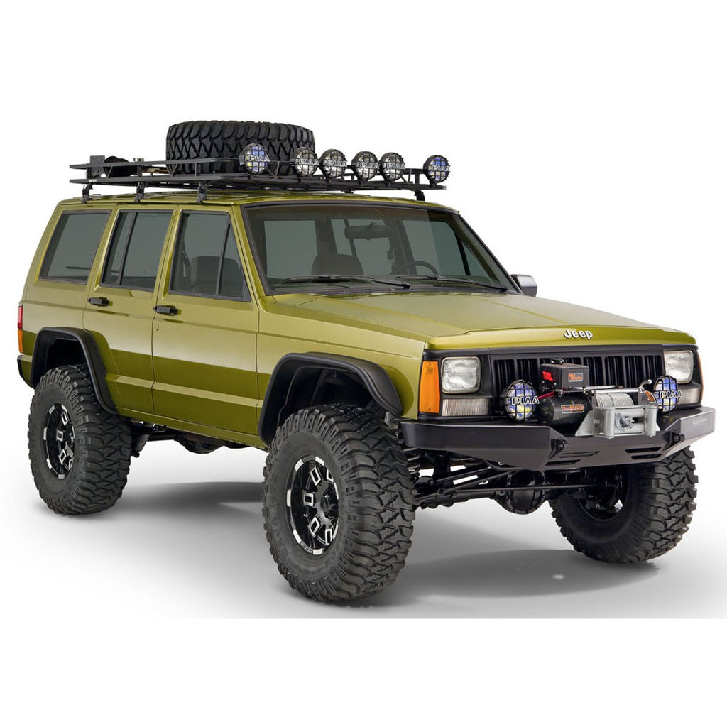 1984 2001 jeep cherokee xj flat style fender flare front. Black Bedroom Furniture Sets. Home Design Ideas