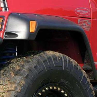 "1987-1995 Jeep Wrangler YJ 6"" ABS Style Fender Flare - Front/Rear Kit"