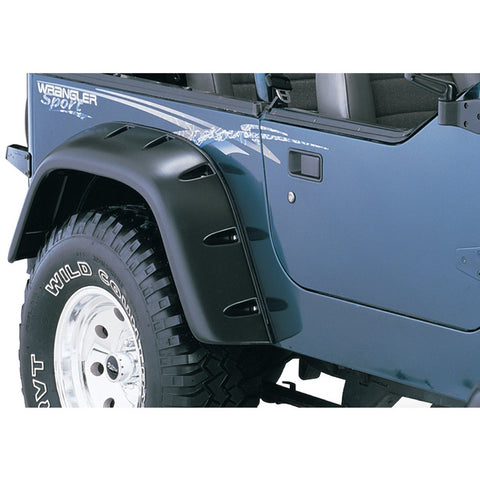 1987-1995 Jeep Wrangler YJ Cut-Out Style Fender Flare - Front/Rear Kit
