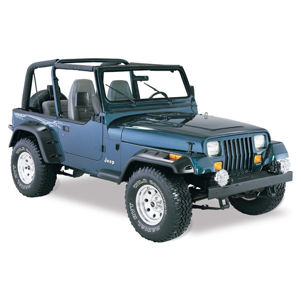 Awesome 1987 1995 Jeep Wrangler YJ Cut Out Style Fender Flare   Front/Rear Kit