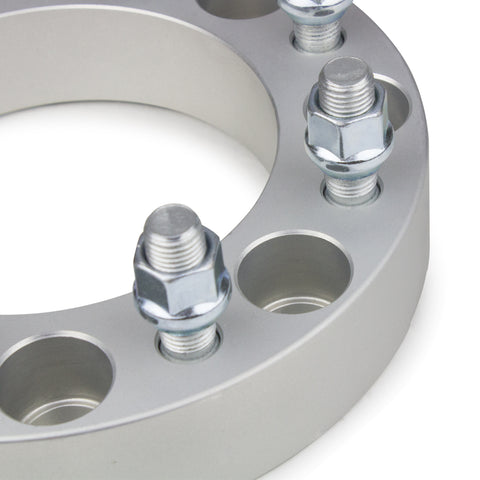 "1973-1996 FORD F-250 F350 2WD/4WD* (9/16"" X 18 STUDS SIZE ONLY) - 8x165.1 Wheel Spacers Kit - Set of 4 with no lip - Silver"