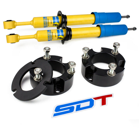 2003-2009 Toyota 4Runner Front Leveling Lift Kit 4WD 2WD with Lean Spacer and BILSTEIN STRUTS