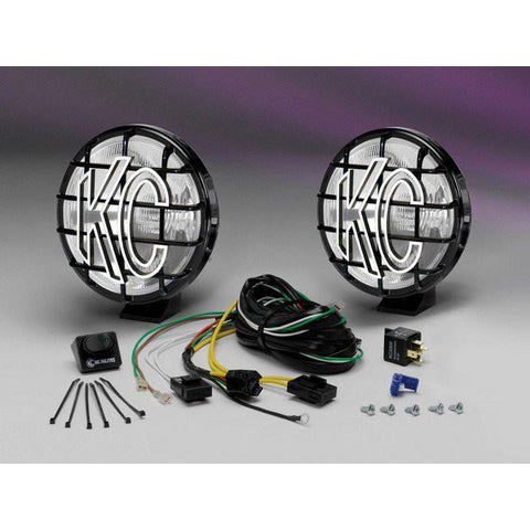 "6"" Apollo Pro Halogen Pair Pack System - Driving/Spread Black Powder Coated"