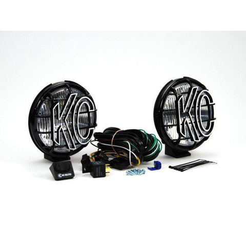 "6"" Apollo Pro Halogen Pair Pack System - Fog/Flood Black Powder Coated"