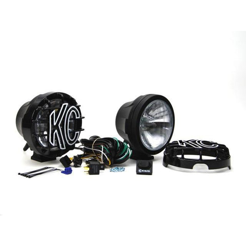 "6"" Pro-Sport HID Pair Pack System - Driving/Spread Black Powder Coated"