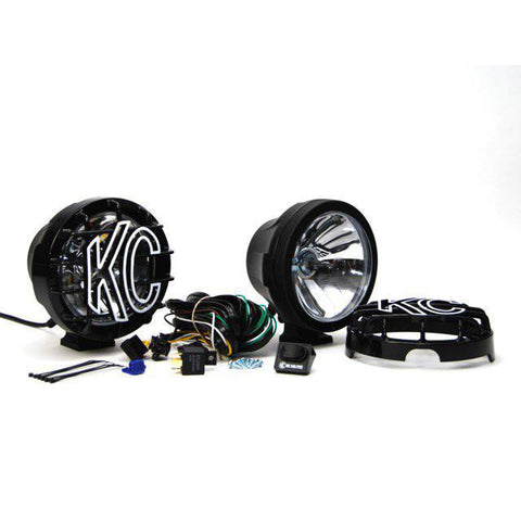 "6"" Pro-Sport HID Pair Pack System - Pencil/Long Range Black Powder Coated"