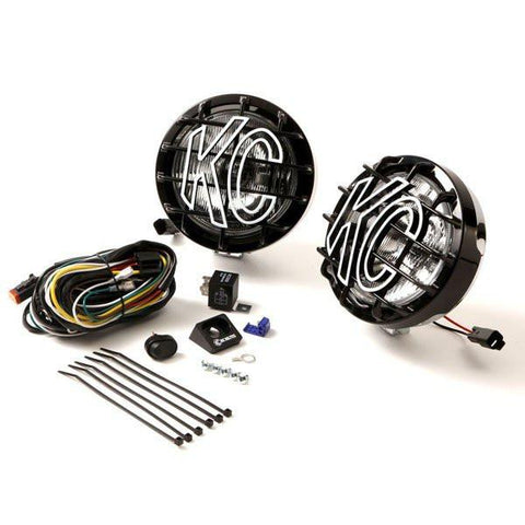 "6"" Slimlite Halogen Pair Pack System Light Kit - Driving/Spread Chrome Steel Housing"