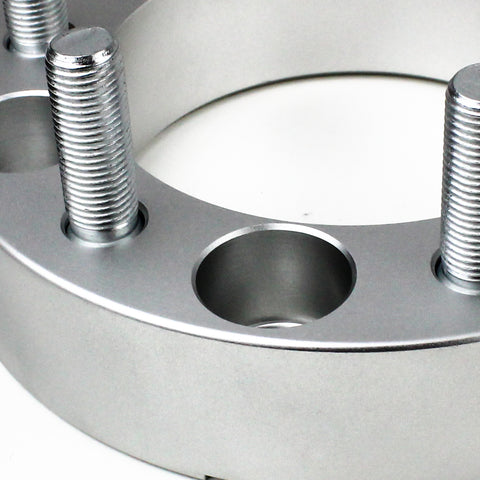 Fits 2004-2010 Infiniti QX56 2WD/4WD - 6x139.7 108mm Lug Centric Wheel Spacers Kit - Set of 4 with no lip - Silver