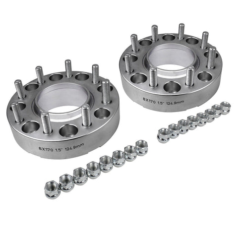2005-2019 Ford F-250 8x170 124.9mm Wheel Spacer - Set of 2 - Silver