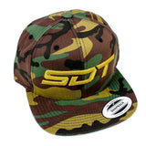 SDT Wool Blend Embroidered Snapback-Hat-Green Camo-Street Dirt Track
