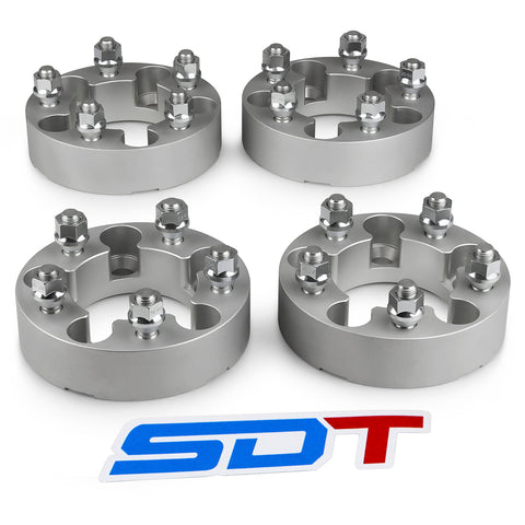 1984-1990 FORD BRONCO II 2WD/4WD - 5x114.3 Wheel Spacers Kit - Set of 4 - Silver
