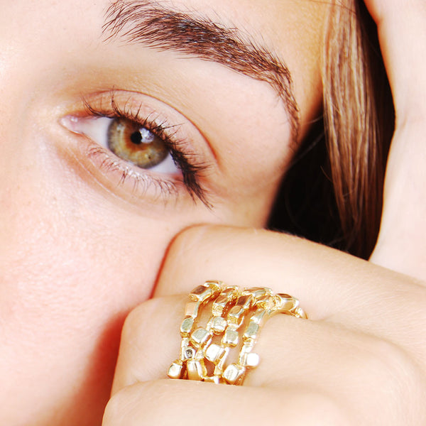 NR Lana Ring Gold Plated D3