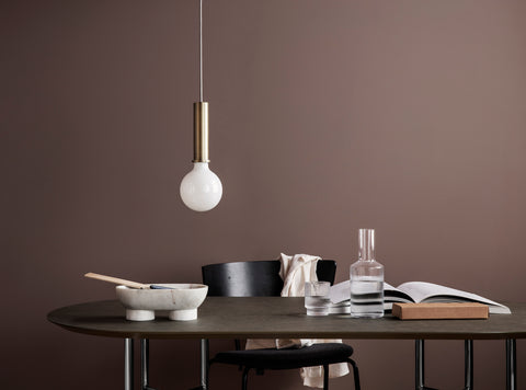 shop socket pendant high brass from ferm living
