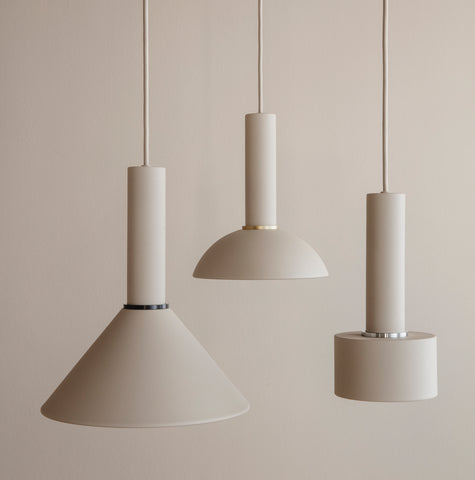 Ferm Living Collect Lighting series in cashmere, available in someday designs
