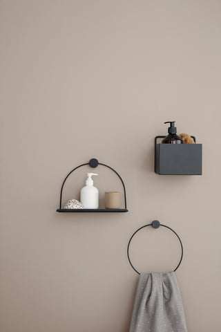 ferm living black bathroom accessories
