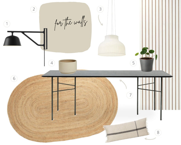 open plan dining social area | moodboard | someday designs house renovation