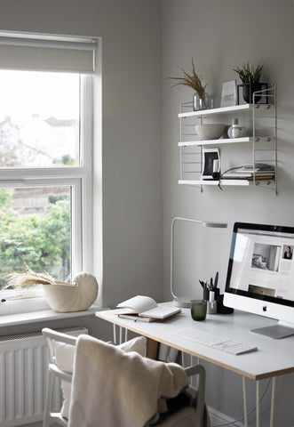 Abi Dare of These Four Walls blog's home office